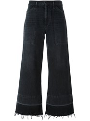 Citizens Of Humanity Flared Cropped Trousers Black