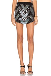 Chaser Embellished Mini Skirt Metallic Silver
