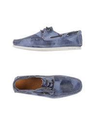 Gold Brothers Lace Up Shoes Slate Blue