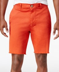 American Rag Men's Stretch Twill Shorts Only At Macy's Orange