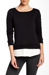 Solow Quilted Sweatshirt Black