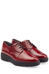 Robert Clergerie Patent Leather Oxfords Red