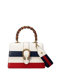 Gucci Dionysus Small Web Stripe Top Handle Satchel Bag White