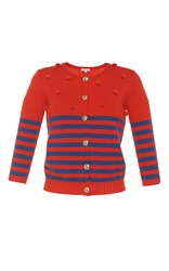 Manoush Nautical Cardigan Red