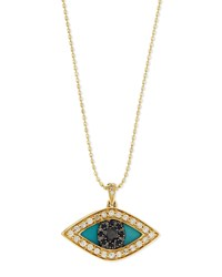 Sydney Evan Diamond Evil Eye Swivel Pendant Necklace Gold