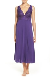 Natori Women's 'Zen Floral' Nightgown Royal Purple