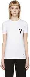 Versus White V T Shirt