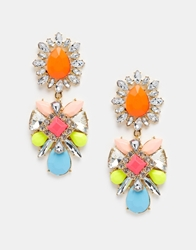 Love Rocks Neon Statement Drop Earrings Multineon