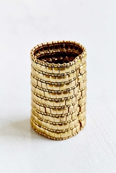 Urban Outfitters Heavy Metal Stretch Cuff Bracelet Gold