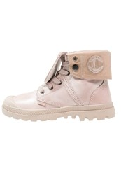 Palladium Pallabrouse Baggy Laceup Boots Dusty Pink Moonlight Rose