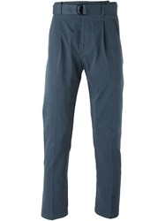 Andrea Pompilio Belted Chinos Blue