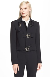 Rachel Zoe 'Dot' Buckle Jacket Black