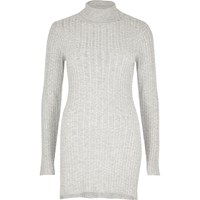 River Island Womens Grey Cable Knit Tunic