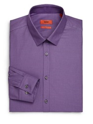 Hugo Boss Slim Fit Cotton Dress Shirt Dark Purple