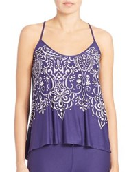 In Bloom Maya Knit Camisole Blue Ivory