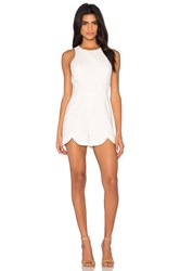 1. State Scallop Edge Romper White