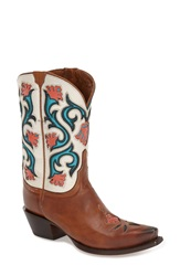 Lucchese 'Flower' Western Boot Women Tan