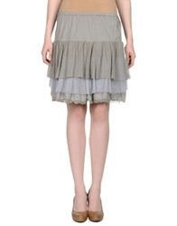 .. Merci Merci Knee Length Skirts Grey
