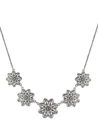 Lucky Brand Flower Collar Necklace Mixed Metal