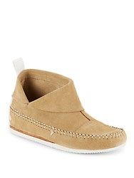 Rag And Bone Suede Folded Cuff Booties Camel Suede