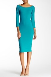 Blvd Midi Bodycon Dress Green