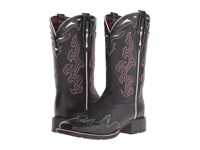 Ariat Sidekick Black Deertan Black Empire Alligator Print Cowboy Boots