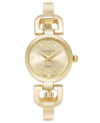 Charter Club Women's Gold Tone Bangle Bracelet Watch 24Mm 17285 Only At Macy's