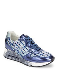 Ash Love Tweed Metallic Sneakers Blue Multi