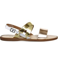 Office Bali Strappy Metallic Sandals Metallic Mix Leather