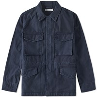 Head Porter Plus Army Jacket Blue