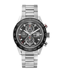 Tag Heuer Brushed Ceramic Tachymeter Bracelet Watch Car201wba0714 Silver