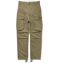 Neighborhood Bruhed Cotton Cargo Trouer Green