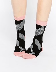 Paul Smith Zig Zag Socks Black