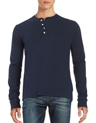 Brooks Brothers Long Sleeve Henley Navy
