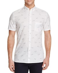 Barney Cools Short Sleeve Slim Fit Button Down Shirt White