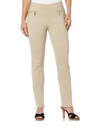 Rafaella Slim Leg Dress Pants Safari