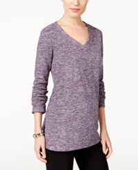 Styleandco. Style Co. Space Dyed Sweatshirt Only At Macy's Dark Grape