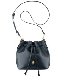 Anne Klein Small Nina Drawstring Crossbody Black
