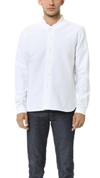 Ymc Long Sleeve Baseball Shirt White