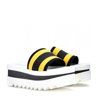 Stella Mccartney Slide Platform Sandals Yellow Blk Yell Blk