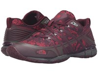 The North Face Litewave Ampere Deep Garnet Red Triangle Party Print Melon Red Women's Shoes Brown