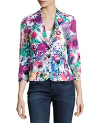 Paperwhite Two Button Floral Print Jacket Multi