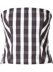 Brock Collection Gingham Fitted Top Black