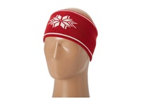 Dale Of Norway Geilo Headband B Raspberry Off White Knit Hats Red