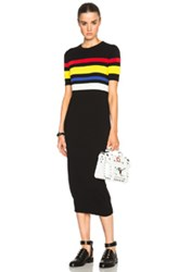 Each X Other Colored Stripe Dress In Black Stripes