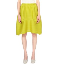 Issey Miyake Pleats Please Bounce Pleated Skirt Canary Yellow