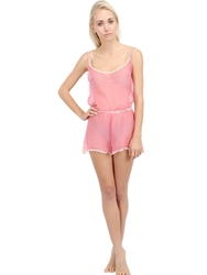 Mimi Holliday Silk Chiffon Teddy Fuchsia