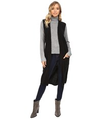 Echo Knit Cross Over Vest Black Women's Vest