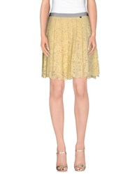 Liu Jo Skirts Knee Length Skirts Women Light Yellow