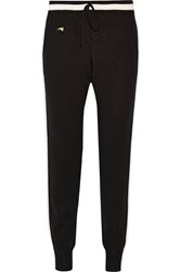 Bella Freud Wool Blend Track Pants Black